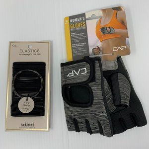 Gift Set Weightlifting Gloves Fine Hair Bands NWT